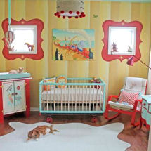 Gender Neutral Baby Animals Carnival Theme Nursery
