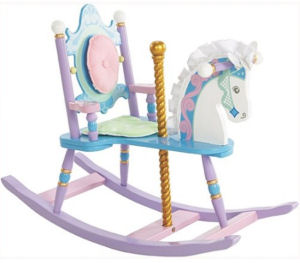 Elegant vintage style carousel horse nursery rocker