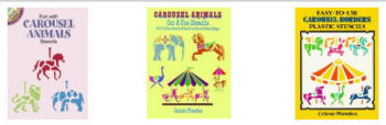 Carousel horse circus wall stencil patterns