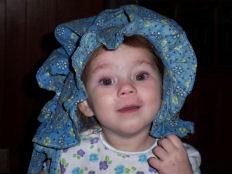 vintage handmade prairie style bonnet baby