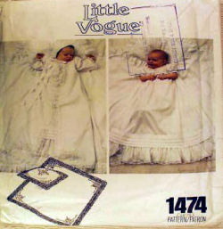 little vogue vintage christening gown sewing pattern