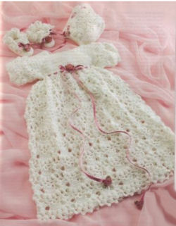 FREE CROCHET BABY CHRISTENING GOWN PATTERNS | Crochet and