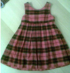 red plaid christmas dress baby girl outfit jumper homemade