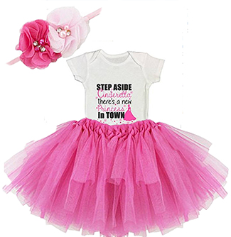 DIY Step Aside Cinderella There's a New Princess in Town Baby girl Onesie Outfit