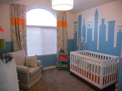 Modern Cityscape Nursery Theme for a Baby Boy