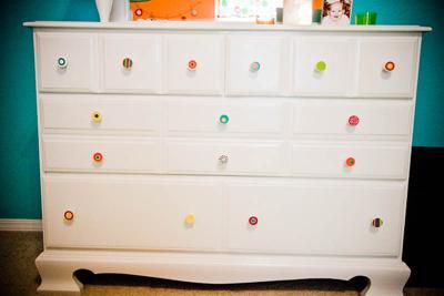 Homemade baby nursery dresser drawer pulls knobs!