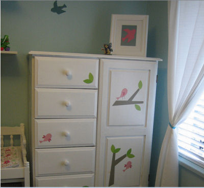 Piper's Bird Themed Nursery Armoire