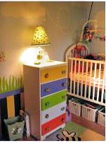 DIY reclaimed recycled painted baby nursery dresser makeover project