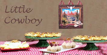 Cowgirl cowboy baby shower cupcakes decorating ideas with menu food table decorated