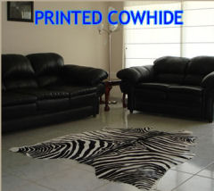 cowhide rug zebra wild animal print rug hide natural