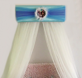 Frozen theme baby bed canopy crib crown