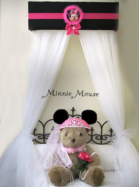 Minnie Mouse baby bed canopy crib canopy for a baby girl Disney nursery room theme
