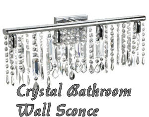 Swarovski crystal bathroom wall sconce