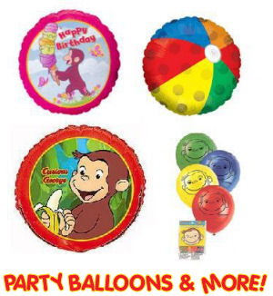 curious george party supplies big large monkey mylar balloons