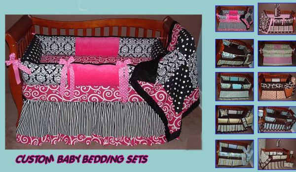 Custom Baby Bedding In Beautiful Fabrics Colors And