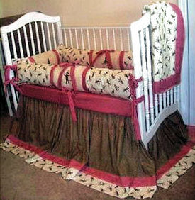 Custom made baby sock monkey nursery crib bedding set