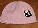 panda baby pink girls hat cap