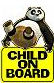 panda baby on board sign kids