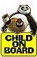panda baby on board sign kids