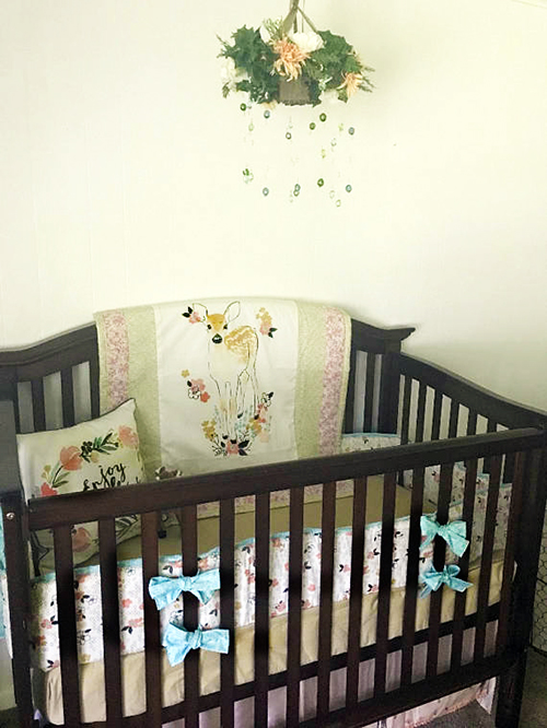 deer fawn with spots baby crib bedding set on sale