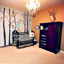 Elegant deer themed baby boy nursery