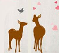 Deer and hunting theme nursery wall decals and stickers for a rustic forest friends theme room