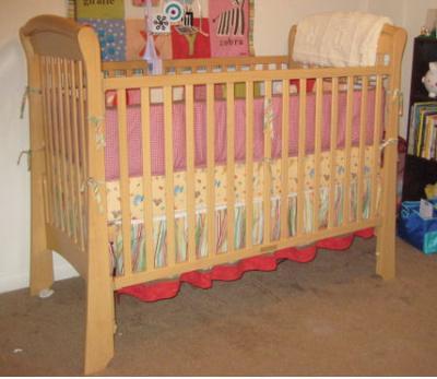 Delta Martine Sleigh Baby Crib Model 4842-1