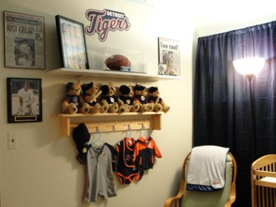 Detroit Tigers Baby Baseball Nursery Wall Decorations