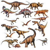 Prehistoric dinosaur baby nursery wall stickers and decals for a boys dino room theme