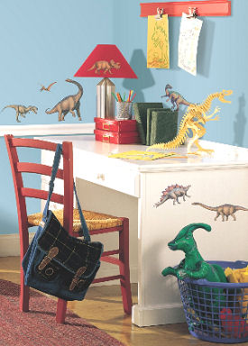 Dinosaur wall decals and stickers for kids rooms or baby nursery wall