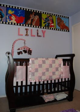 little mermaid disney nursery theme princess castle pink baby girl