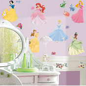 Flower baby nursery wall stickers and decals with puppies mural