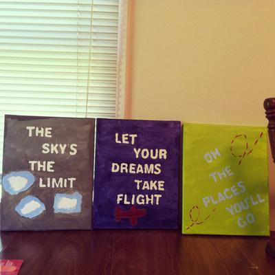 DIY Wall Art and Decorations for an Aviator Theme Nursery for a Baby Boy