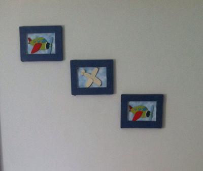DIY Wall Art for an Aviator Theme Nursery for a Baby Boy
