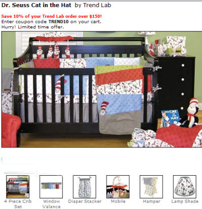 dr seuss cat in the hat baby nursery theme decorating ideas picture crib bedding set