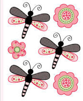 dragonfly wall decals stickers clings appliques decorations