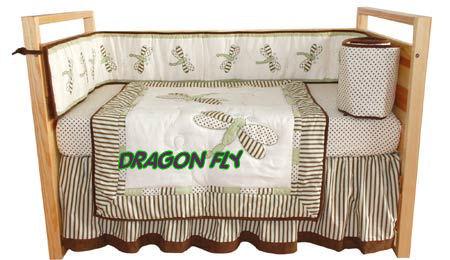 dragonfly nursery theme baby crib bedding decorative items