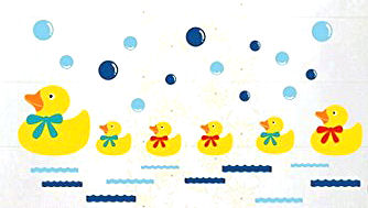 baby rubber ducky duck decals nursery wall stickers