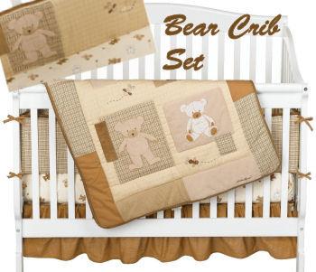 Eddie Bauer teddy bear baby bedding crib set and nursery decor
