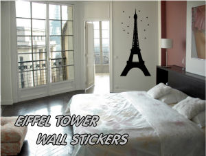 French Parisian Wall Decals, Stickers, Clings and Appliques