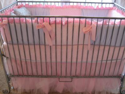 Elegant Custom Made Modern Baby Crib Bedding Set