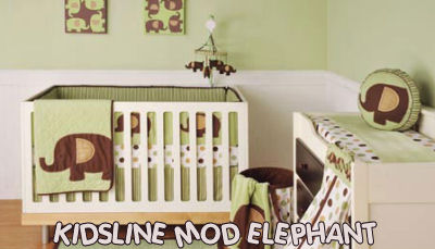 Cheap Baby Bedding on Green And Chocolate Brown Neutral Baby Crib Bedding Set Elephant
