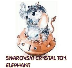 swarovski crystal rare baby toy elephant