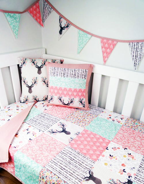 Baby Deer Or Enchanted Forest Baby Bedding