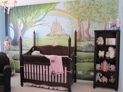 Nursery Rhyme Baby Decor - A Pink Fairytale Room for a Baby Girl