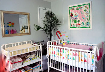 Evelyn's Florida nursery theme with touches of pink and vintage style