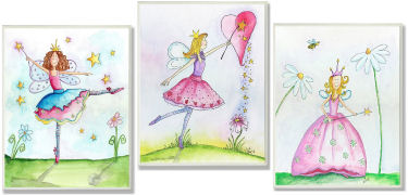 Fairytale princess fairy nursery wall art ideas