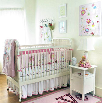 Flower fairy baby princess nursery ideas