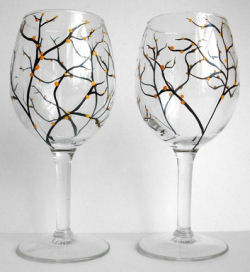 fall table decorations party supplies baby shower halloween wine glasses