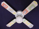 farm animals farming kids nursery baby ceiling fan